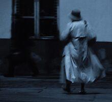 Hurrying woman. II by Bluesrose