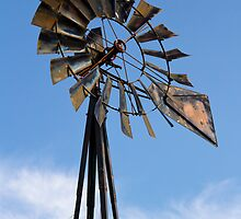 Tall Vintage Midwestern Windmill by Kenneth Keifer