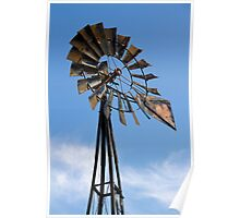 Tall Vintage Midwestern Windmill Poster