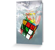 rubix cube Greeting Card