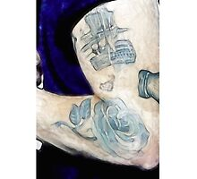 Harry Styles Watercolor Tattoo by graphicsbysarah