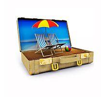 Beach Suitcase  Photographic Print