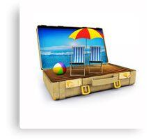 Beach Suitcase  Canvas Print