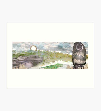 Crystal Landscape Art Print