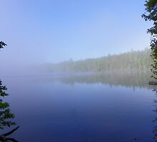 Early Morning Mist on the Lake by MaryinMaine