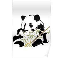 Giant Panda (Ailuropoda melanoleuca) (Chinese brush art) Poster