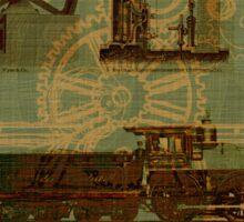 Steamed Locomotive Engines Sticker