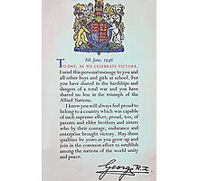 1946 King George VI Certificate Photographic Print