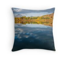 And So the Oxbow Madness Begins / Mt Moran Throw Pillow