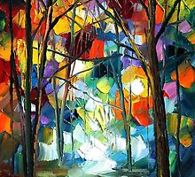 ROMANTIC AURA - LEONID AFREMOV by Leonid  Afremov
