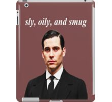 Sly, Oily, and Smug (White Text) iPad Case/Skin