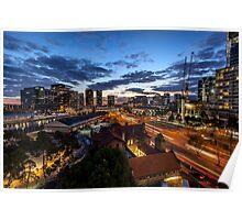 Flinders St Light Trails Poster