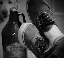 Kick back shoes and Root Beer by Corri Gryting Gutzman