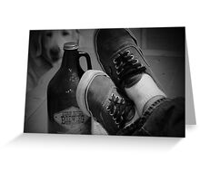 Kick back shoes and Root Beer Greeting Card
