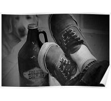 Kick back shoes and Root Beer Poster
