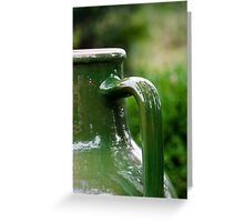 Green Jug Greeting Card