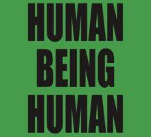 Human Being Human Kids Tee