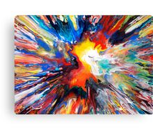 Colourful Spin Painting 24 Canvas Print