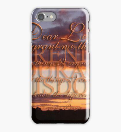 The Serenity Prayer  iPhone Case/Skin