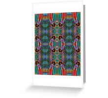 A Mirrored Kaleidoscopeic Cacophony  Greeting Card