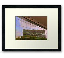 Reflective facade Framed Print