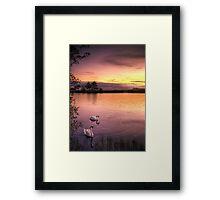 Sunset Ripples Framed Print