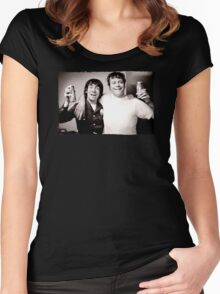 Keith Moon with Oliver Reed the who funny drunk legends mens t shirt Women's Fitted Scoop T-Shirt