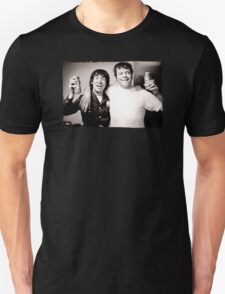Keith Moon with Oliver Reed the who funny drunk legends mens t shirt Unisex T-Shirt