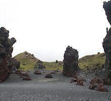 Black volcanic beach Grundarfjordur Iceland by Grace Johnson