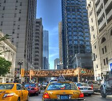Chicago Rush Hour Traffic Cabs by Matt Erickson