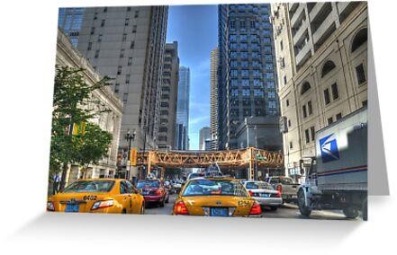 Chicago Rush Hour Traffic Cabs by Matt Erickson