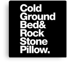 Bob Marley Bed Rock & Stone Pillow Threads Canvas Print