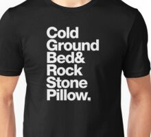 Bob Marley Bed Rock & Stone Pillow Threads Unisex T-Shirt