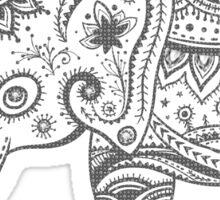 Gray Tones Cute Elephant Sticker