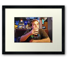 Beer Thinker Framed Print
