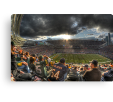 Bears vs. Packers: Rivalry in the Stands Canvas Print