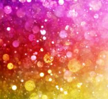 Bright Rainbow Colors Modern Bokeh Glitter  Sticker