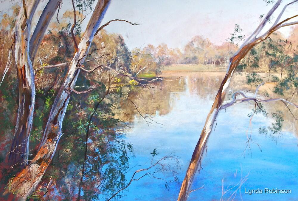 The Goulburn from the Esplanade (Seymour) by Lynda Robinson