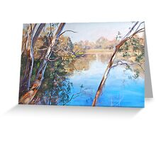 The Goulburn from the Esplanade (Seymour) Greeting Card