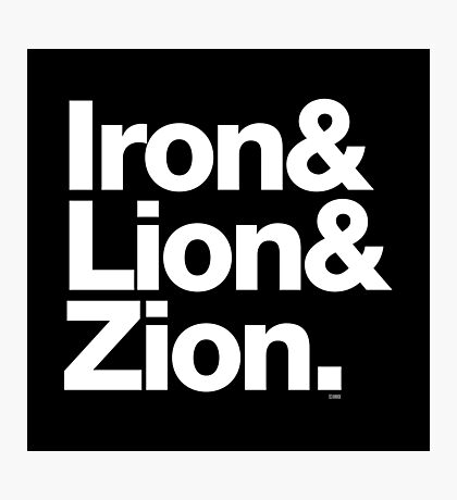 Bob Marley Iron & Lion Zion Reggae Threads Photographic Print
