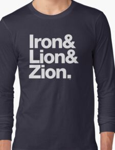 Bob Marley Iron & Lion Zion Reggae Threads Long Sleeve T-Shirt