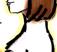 Clara Oswald Cute Short Hair - Angelic Sticker