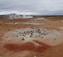 lava fields Lamorscad area, Hverir mud flats Iceland by Grace Johnson