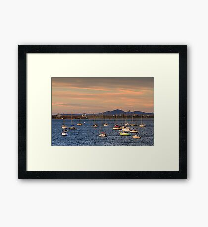 Corio Bay at Geelong Framed Print