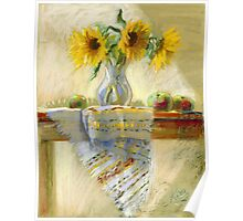 Sunflowers in a Vase Poster