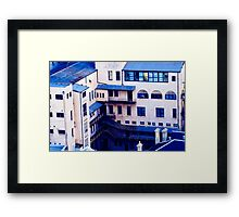 The World Is Blue Framed Print