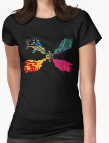 3D geometrics Womens Fitted T-Shirt