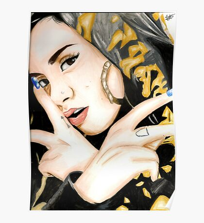 Kehlani Colored Pencil Drawing Poster