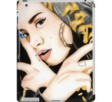 Kehlani Colored Pencil Drawing iPad Case/Skin