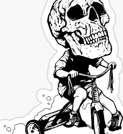 BigHeadSkullKid Sticker